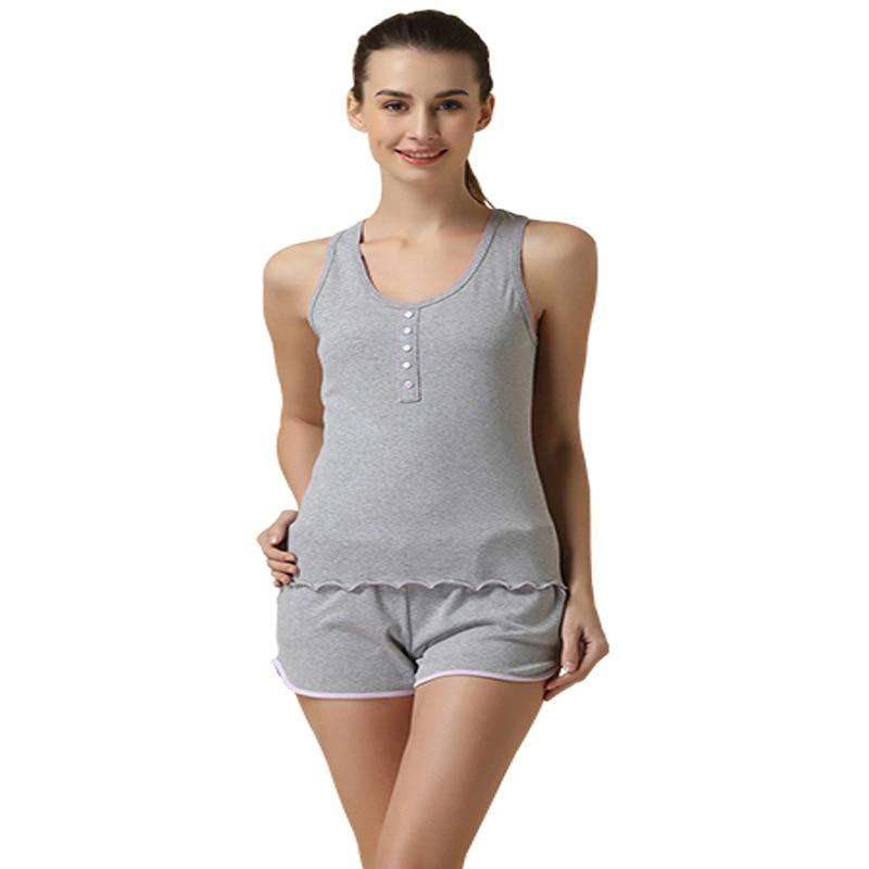 5c569c8a3a54 Discount sale girls pajama set tank top + shorts 2015 fashion design women  sleepwear modal outwear home causal Sleep   Lounge