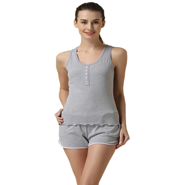 9a07fad74c08c Discount sale girls pajama set tank top + shorts 2015 fashion design women  sleepwear modal outwear home causal Sleep   Lounge
