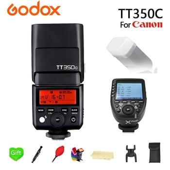 GODOX TT350C Flash TT350-C TTL HSS 2.4g Wireless 1/8000s GN36 Speedlite Pocket lights + Xpro-C Transmitter For Canon Camera