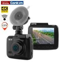 Conkim Dash Cam Camera GPS Wifi DVR Car Camcorder 4K 2880x2160P Night Vision Novatek 96660 2.4 Auto Registrar Car Black Box H40