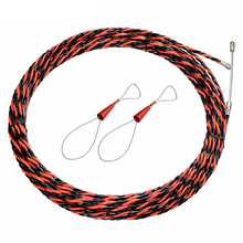 цена на 5/10/15/20/25/30M Fiberglass Guide Device Electric cable pushers tubular coil rodder pulling wire wires and 2pcs cable tensioner
