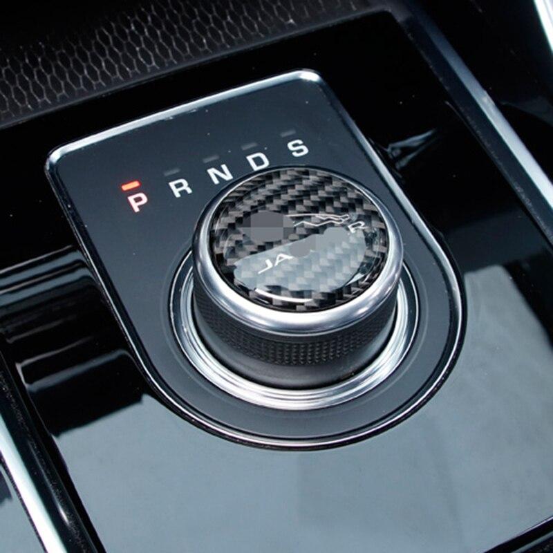 For Jaguar F PACE 2016 2019 Soft Carbon Fiber Gear Knob