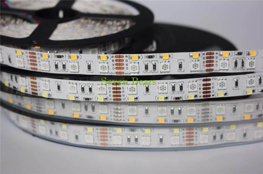 Double Row RGBW LED Strip 5050 RGB   2835 White   Warm White DC12V 120 LED m 5m lot