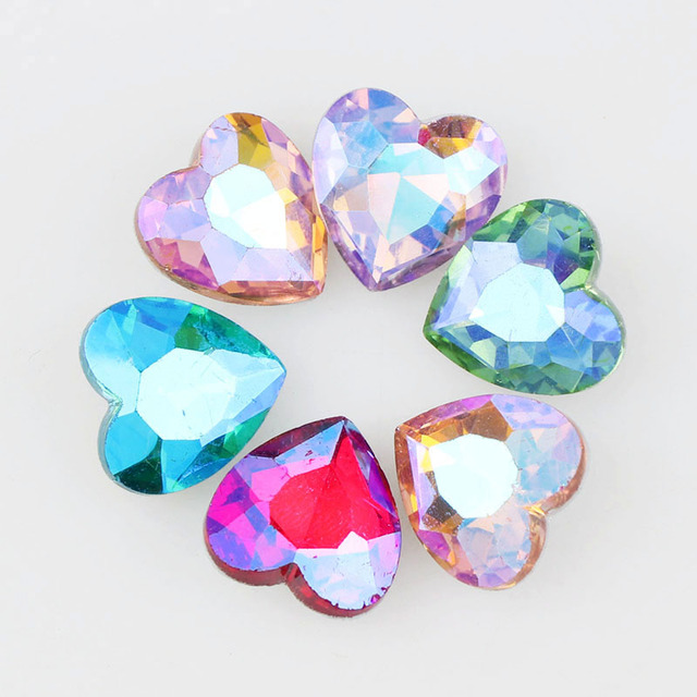 18mm AB Color Love Heart Pointed Back Fancy Stone Crystal Glass For DIY  Wedding Dress Jewelry df54244ce88e