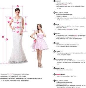 Image 5 - Robe de mariée Vintage en dentelle à motifs floraux, col en v, robe de mariée romantique, grande taille, à lacets