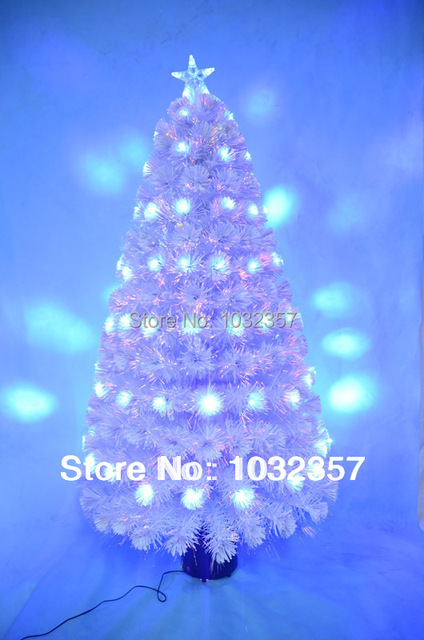 The 5feet/1.5m Fibre Optic Tree/ White Christmas Tree with Blue LED lights,  Home decorating Christmas day gift - The 5feet/1.5m Fibre Optic Tree/ White Christmas Tree With Blue LED