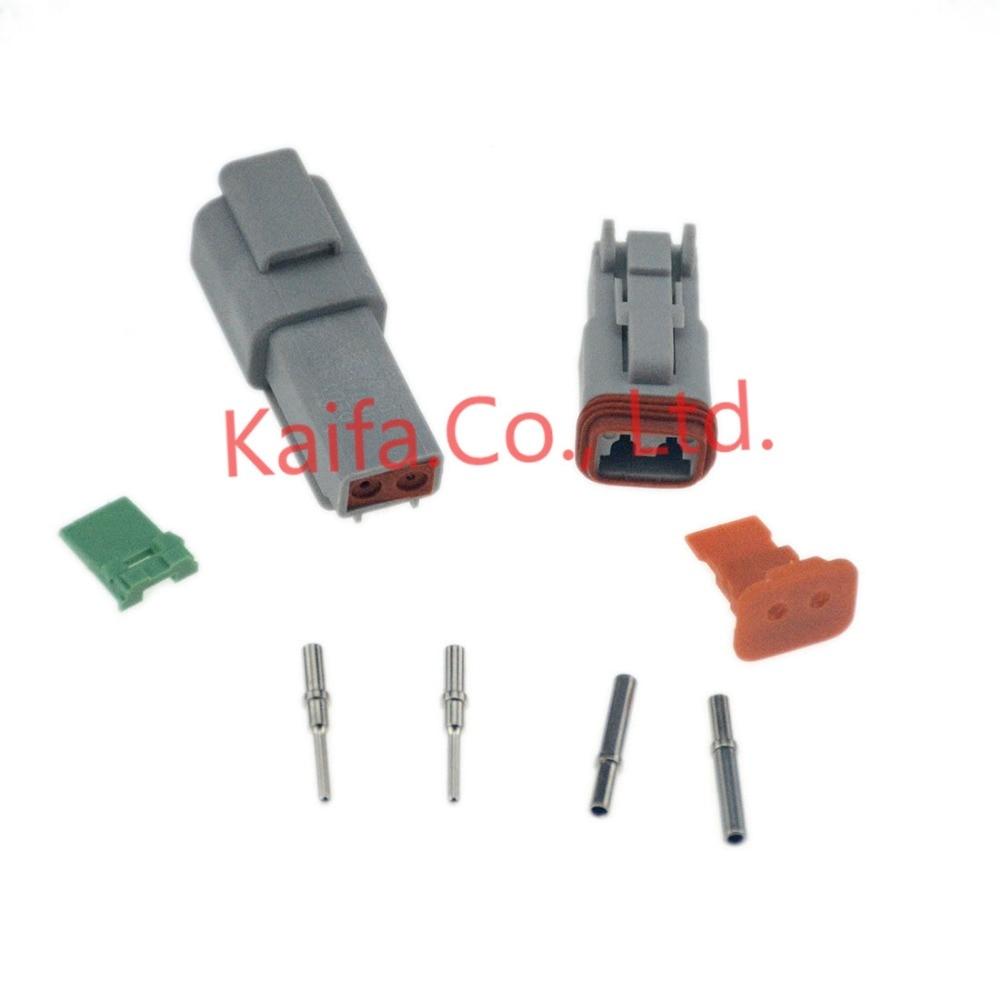 Black Deutsch 1 sets Kit  DT 4 Pin Waterproof Electrical Wire Connector plug