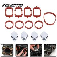 Vehemo 22mm Aluminium Rubber Intake Manifold Seal Ring Swirl Flap Blanking Plate Spare Automobile Durable For