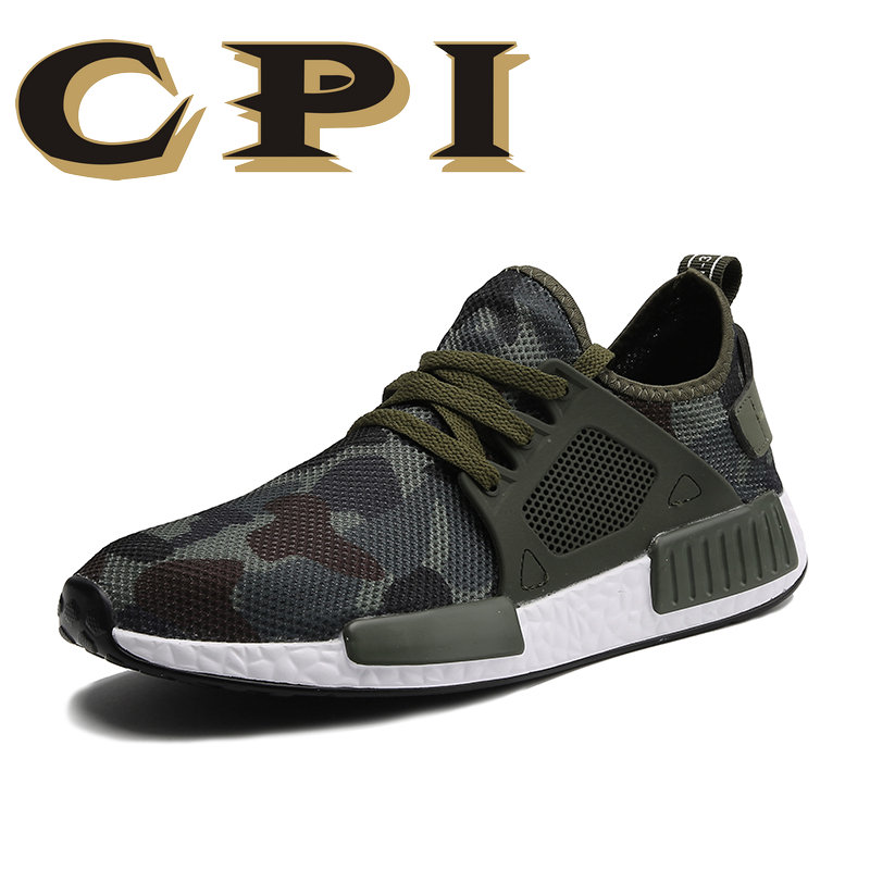 Fashion Casual Mesh Shoes Men 2018 Flat Shoes Winter Lace Up Breathable Male Footwear Camouflage Color Sneakers Sapatos ZY 05
