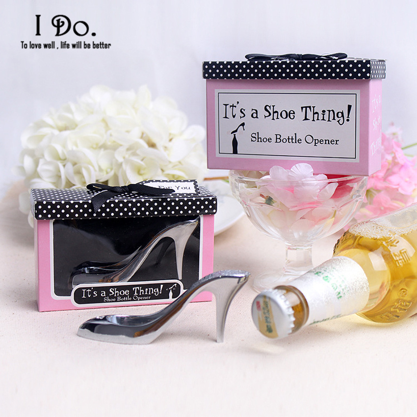 Free Shipping Shoe Design Bottle Opener Wedding Favors And Gifts