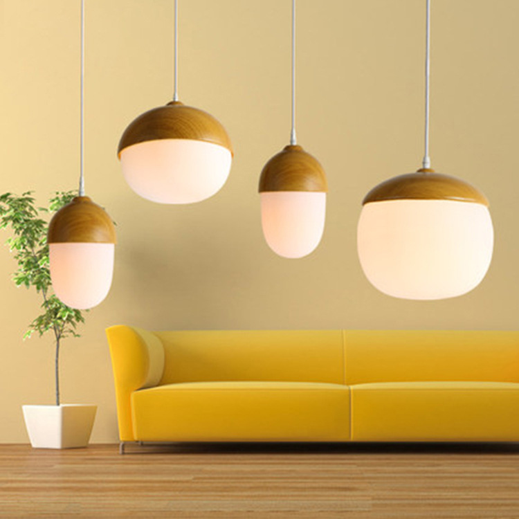 っMadera nórdica luz colgante de madera lámpara lamparas lampara ...