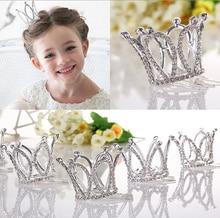 Kids Girls Glitter Crystal Rhinestone Twinkle Princess Crown Tiara Flower Girl Wedding Birthday Prom Hair Accessories