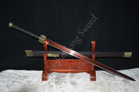 Chinese Sword HAN JIAN Red and Black Folded Steel Blade Han Dynasty Sword Can Cut Bamboo Tree