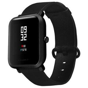 20 мм кожаный ремешок с черной пряжкой для Xiaomi Huami Amazfit Bip BIT Lite Молодежные Смарт-часы носимые наручные браслеты ремешок для часов