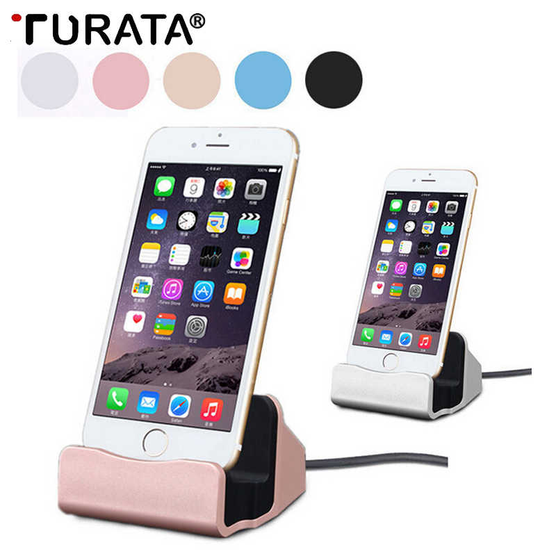 best website 0518a 389fd Turata Charging Base Dock Station For iphone X USB 3.1 Sync Cradle Charger  Docking Stand Holder for iphone 6 6S 7 8 Plus SE 5 5S