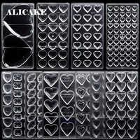3D molde barra chocolate policarbonato bandeja Moldes Para Chocolate forma de dulces Mouds Corazón de plástico Para hornear repostería herramientas