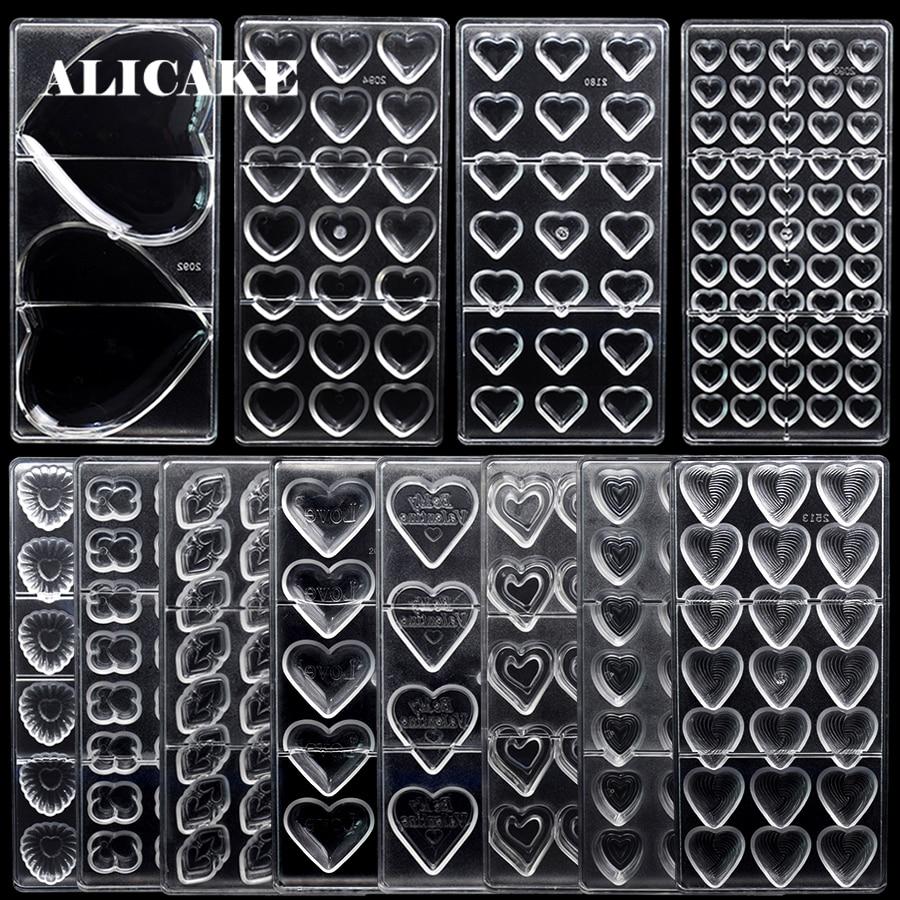 3D форма для шоколада из поликарбоната, лоток для шоколада, форма для конфет, мышей, пластиковая посуда для выпечки, кондитерские инструменты