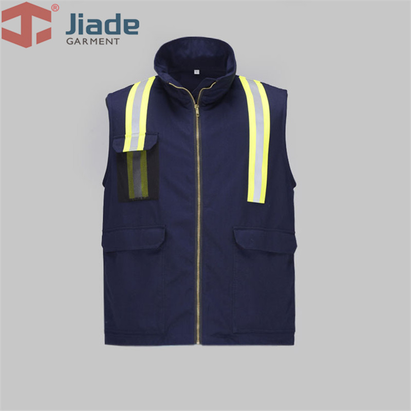 Jiade High visibility Flame Retardant Work Vest FR vest free shipping fluorescence yellow high visibility