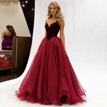 Vintage Burgundy Velvet Evening Dress 2019 Sweetheart Dubai Arabic Lace Up Back Simple Formal Dresses robe de soiree