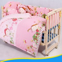 OUTAD 5PCS SET Baby Bedding Sets 100 Cotton Baby Bedclothes Cartoon Crib Bedding Set Include Pillow