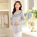 New Autumn Maternity Cotton TShirts for Pregnant Women Long Sleeve Maternity Clothes Spring Pregnancy Tops Premama Clothing Wear
