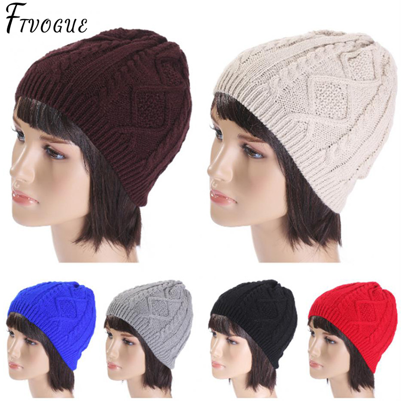 bcba22767c681c ... New Winter Hats Unisex Women's Cotton Solid Warm Hot Sale HIP HOP  Knitted Hat Female For ...