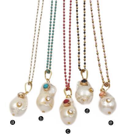 WTJN091 White Baroque Pearl...