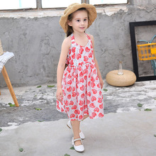 цена на Summer Kids Dress For Girls 2019 Princess Backless Print Children Dress Baby Party Holiday Girls Clothes 3 4 5 6 7 8 9 10 Years
