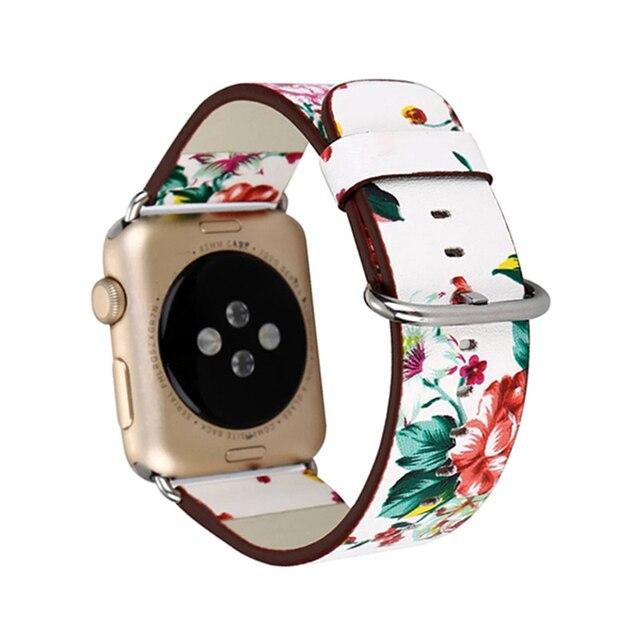 Retro Flower watchband For Apple Watch 38mm 42 mm Strap
