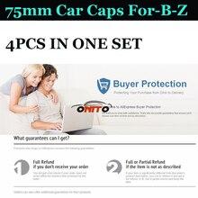 4 pçs/lote 75mm ABS Base Cromada emblema Do Carro com Aro Da Roda de Carro tampas para W124 W201 W202 W211 W203 W204 W212 W205 W220 GLA CIA