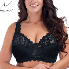 Sexy Gorgeous Embroidery Women Bra Floral Lace Bras Padded Underwire Brassiere Lingerie Plus Size Bralette bh
