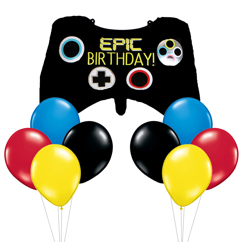 Big Black Gamepad Boy Inflate Toy Video Game Controller Foil Balloon Happy Birthday Decoration Game Match Props Gaming Tool Ball
