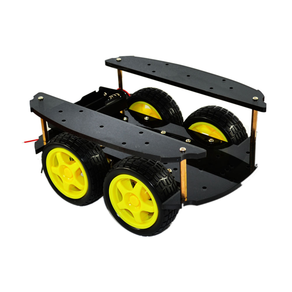 New Avoidance tracking2 layer Motor 4WD Smart car chassis four wheel drive smart car kit for arduino Free ShippingNew Avoidance tracking2 layer Motor 4WD Smart car chassis four wheel drive smart car kit for arduino Free Shipping