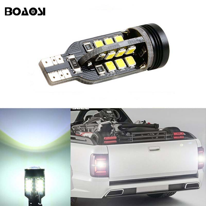 BOAOSI 1x Canbus Error Free T15 W16W 921 Car LED Rear Reversing Tail Light Bulb For VW Tiguan Sharan Scirocco passat b7 Seat 2 x 1156 for cree chips no error car led bulbs daytime running lights bulb for vw volkswagen jetta mk6 scirocco sharan seat