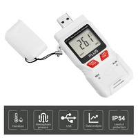 USB Humidity Temperature Data Logger Recorder High Accuracy LCD Thermometer Hygrometer Temperature Humidity Gauge Meter