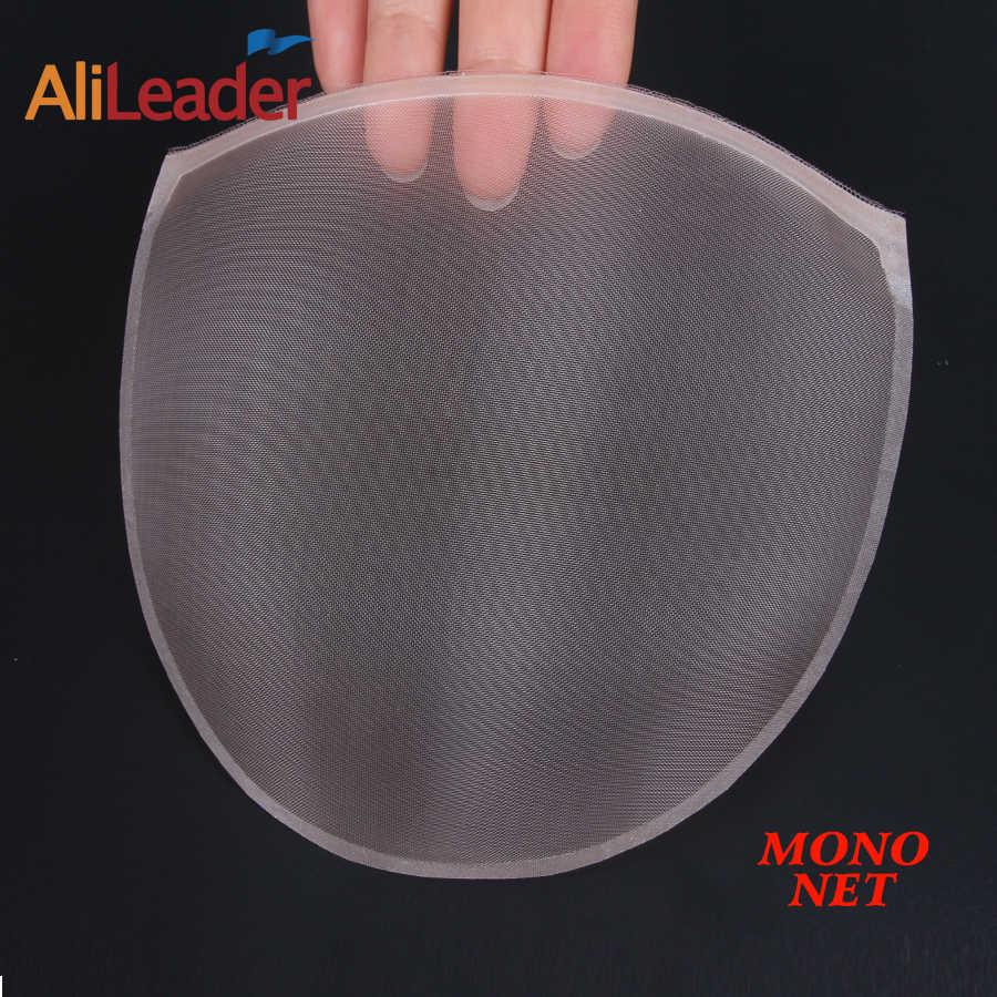 Alileader popüler Mono Net yapmak için peruk kap peruk aksesuarları peruk yapımı için dantel saç ağları kadın bej mono kapatma
