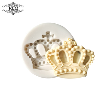 KLM-00195 Baking Molds Silicone Crown Fondant Mold Queen Candy Chocolate Molds For Sugar Craft Gum Pate Cake Decorating image