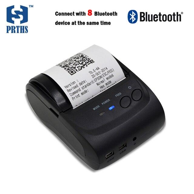 58 мм IOS и Android портативный принтер поддержка подключения 8 компл. устройств в то же время с батареей для наружной обработки HS584AI8