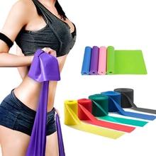 Йога, Пилатес, стрейч, эластичная лента для упражнений, фитнес-лента, эластичная резинка для упражнений, для фитнеса, 150 см, натуральный каучук