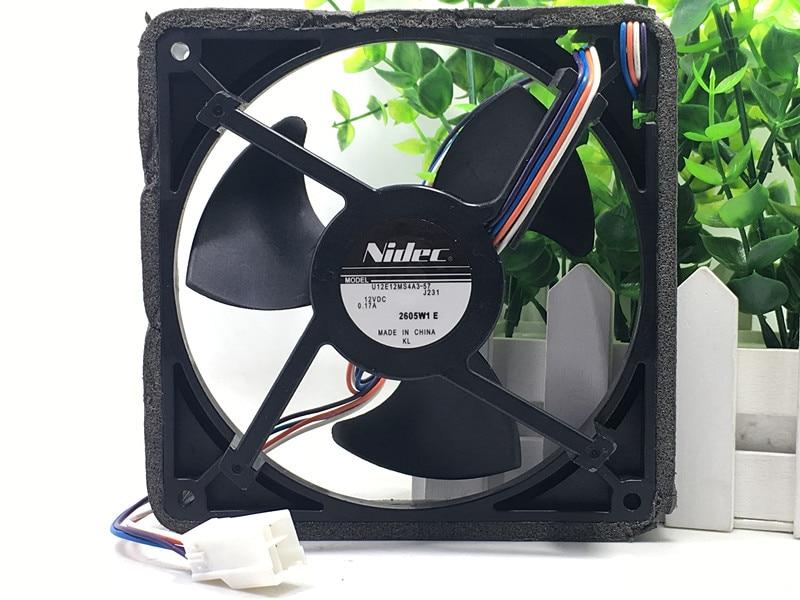 original Nidec U12E12MS4A3-57 J232 12V 0.17A waterproof silent cooling fan удлинитель iek wyp10 06 05 03 n 3 м 5 розеток