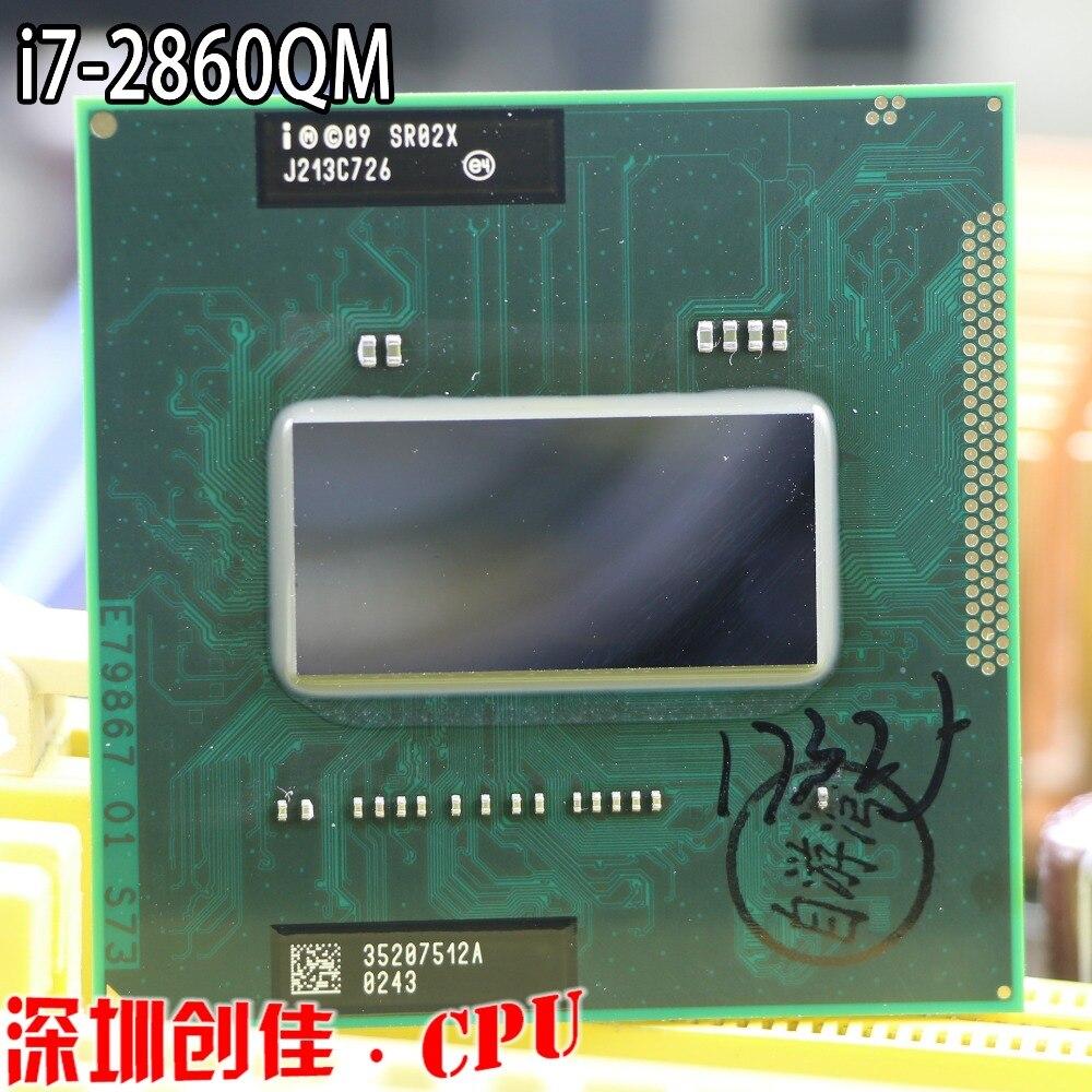 Intel original I7 2860QM 2,5 г-3,6 г 8 м SR02X Процессор HM65 HM67 оригинальный официальное издание ноутбук I7-2860QM quad core восемь нить