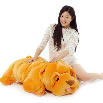 huge 140cm dog plush toy lying shar pei doll ,hugging pillow , Christmas gift w4708 simulation squatting pug dog huge 78cm simulation pekingese dog plush toy soft doll hugging pillow christmas gift w1017