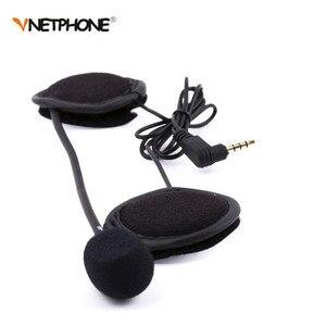 Image 2 - 2PCS 3.5MM EJEAS V6 V6 Pro Accessories Earphone Speaker Microphone Clip For Vnetphone V4/V6 Motorcycle Helmet Bluetooth Intercom
