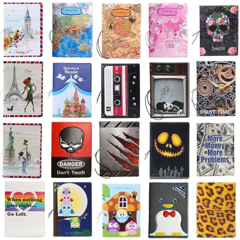 3D Design Vintage World Trip Passport Cover ID Credit Card Bag PVC Leather Passport Holder 14*9.6CM цены онлайн