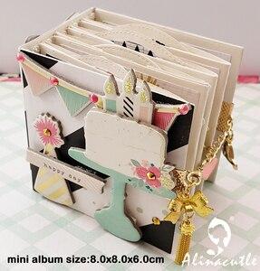 Image 1 - Gestanst Metaal Snijden sterven fotoalbum geheugen boek Sterven Tag Hart Alinacraft Plakboek Papercraft DIY Card Stencil Cutter Punch