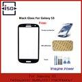 Черное Стекло Замена для Sumsung Galaxy s3 i9300 сенсорный экран Внешний Экран Стекло с бесплатным протектора + 3 м стикер + инструментов, как подарок