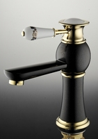 Bathroom Basin Faucet Torneira Vanity Sink Mixer Water Taps Blue And White Porcelain Faucet Mixer Brass