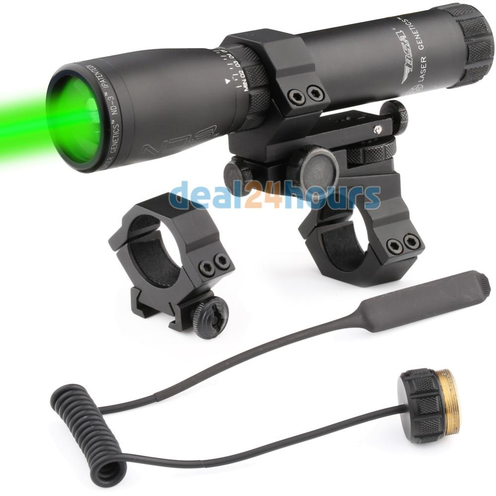 New Laser Genetics ND3 x30 Long Distance Green Laser Scope Designator with mount Shipping!
