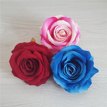 100pcs 9CM Rose Flower Head Artificial Flowers DIY Wedding Party Decoration Supplies Simulation Fake Home Decorations