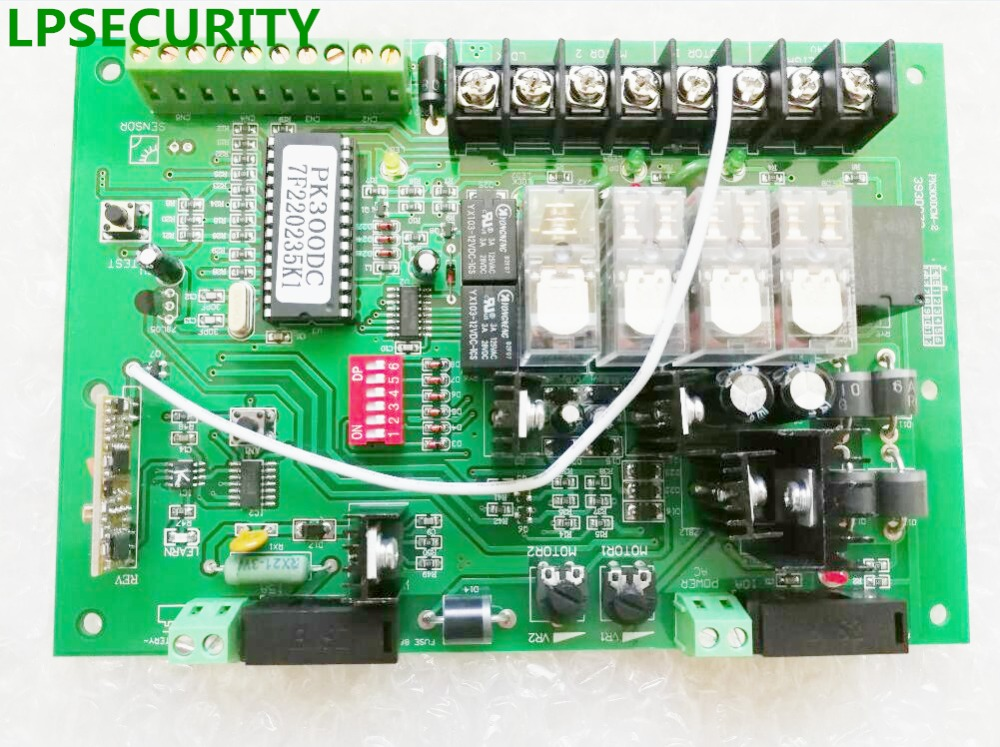 LPSECURITY motherboard PCB motor controller circuit board card for swing gate opener motor 24VDC input power(KEYFOBS optional) free shipping motor controller treadmill spare parts shua oma brand etc treadmill circuit board motherboard driver control board